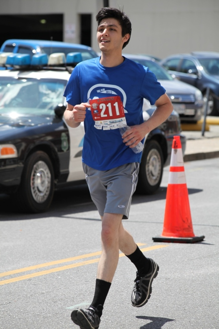 Brandon competing in the 2014 Foot Levelers' Blue Ridge Marathon
