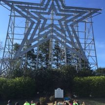 Aid station at the famous Roanoke star