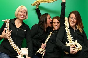 Chiropractic author, speaker and coach Dr. Lona Cook (left) and associates